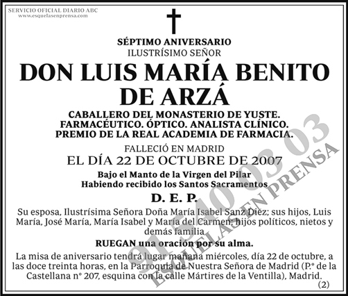 Luis María Benito de Arzá
